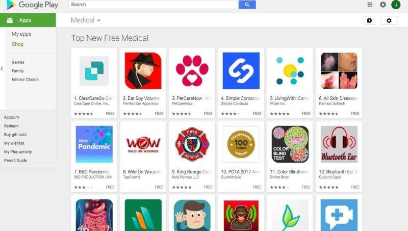 google-play-top-medical